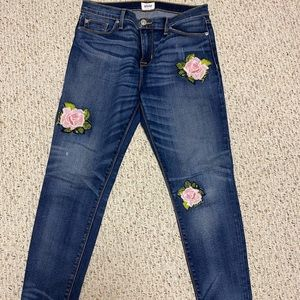 Hudson embroidered skinny